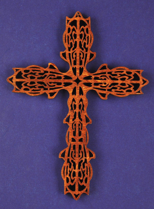 Small Wood Crown Cross