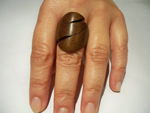 wooden ring teak wood