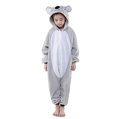 Kigurumi Pajamas New Cosplay® Koala Leotard/Onesie Festival/Holiday Animal Sleepwear Halloween Gray Patchwork Polar Fleece Kigurumi For