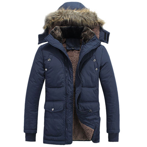 2016 Winter Jacket For Men Plus Size M-4XL Warm Thick Fleece Thick Male Coat Male Fashion Added Velvet Jacket MC287
