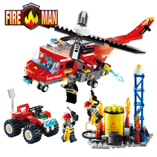 GUDI Fire Fighting Series Building Blocks Truck Compatible Education Enlighten DIY Toys Gift for Children 9213~9215