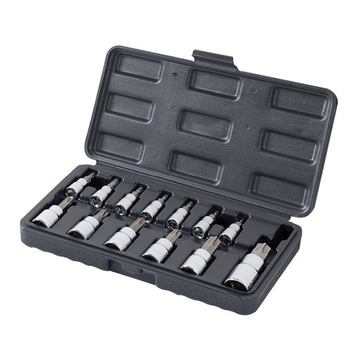 "WORKPRO 13PC Torx Bits Socket Set 1/4"" 3/8"" 1/2"" Dr. Bit Sets Home Tool Kits"