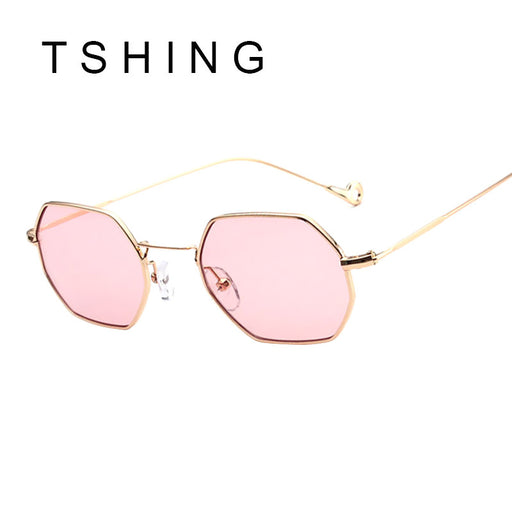 2017 New Italy Small Octagon Steampunk Sunglasses Fashion Women Men Brand Designer Metal Frame Sun Glasses Vogue Ladies Oculos