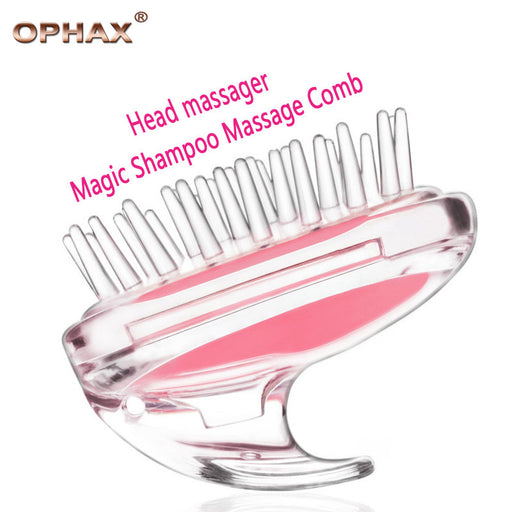 OPHAX Rabbit Head Massager Magic Shampoo Massage Comb Bath Massage Brush Scalp Massager good for Hair loss men and women