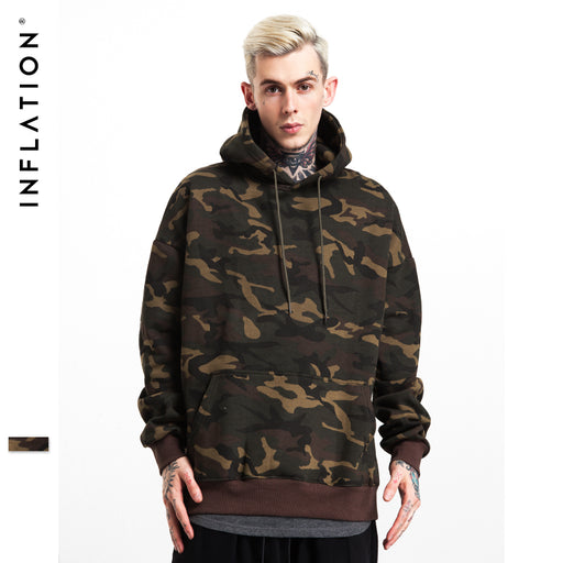 INFLATION 2017 A/W New Collection Men Women Brand Streetswear Hip Hop Skateboard Hoodies Sweatshirt Camouflage Hoodies 154W17
