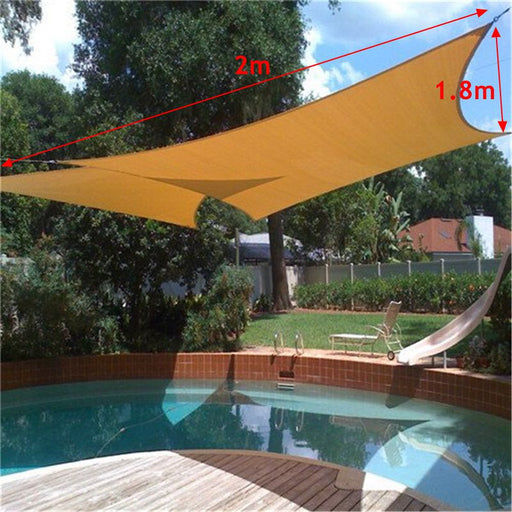 2X1.8m Sun Shade Awning Sun Block Sail Shelter Net Outdoor Garden Car Cover Canopy Patio Swimming Pool Sunscreen Supplies