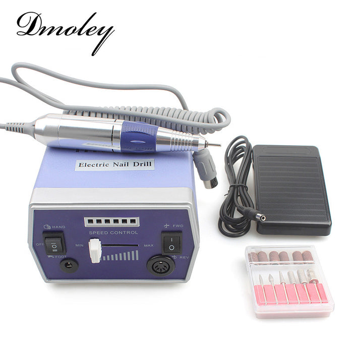 2017 New Blue ProNail Drill Machine Nail Equipment Manicure Pedicure Files Electric Manicure Drill Machine With Accessor
