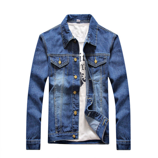 2017 Autumn New Style Men's Casual Cowboy  Jacket Solid High Quality  Male Jeans Coat Plus Size S-4XL  Bomber Jacket for Man