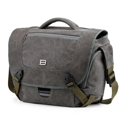 "BAGSMART Camera Messenger Shoulder Bag for SLR/DSLR Cameras & 15.6"" Macbook Pro 15.5L. Grey"