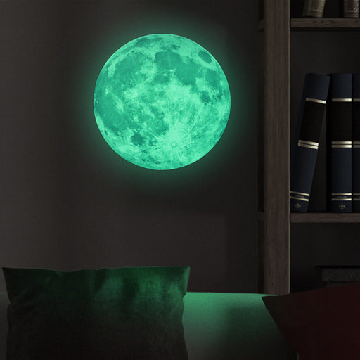 30CM Children's Room Decor Luminous Stickers Luminous Moon Earth Wall Stickers Glow In The Dark Mural