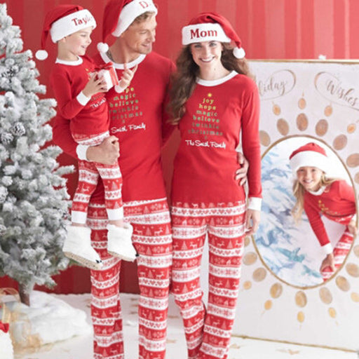 Adult Women Men Christmas XMAS Pajamas Set Sleepwear Nightwear