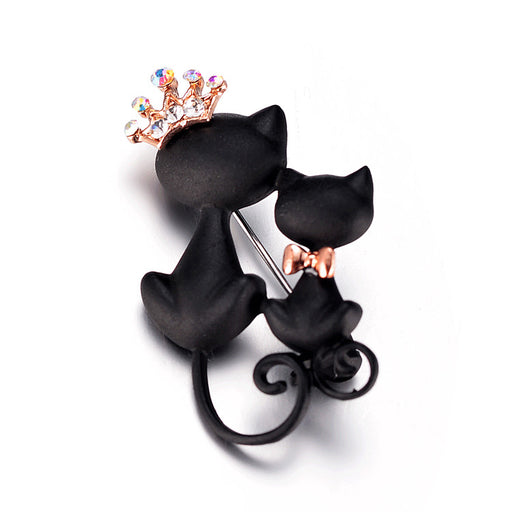 Cat Brooches Crystal Crown Queen Corsets Women Hats Scarf Suit Brooch