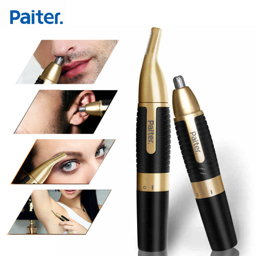 Paiter Men Electric Nose Trimmer for Nose Ear Sideburns Beard Hair Shaving Scissors Scraping Women Eyebrow Shaping Clip Device