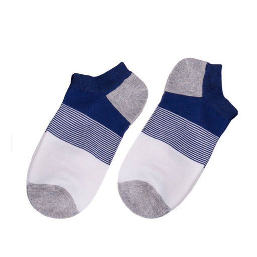 1 Pair of Mens Ankle Socks Cotton Low Cut Crew Stretch Sport Sweat-absorbent Breathable Socks Fits for 24.5-27cm foot