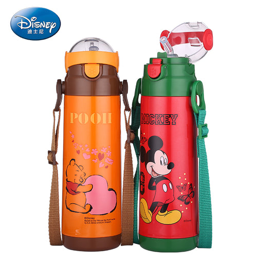 Cartoon Baby Cup Water Drinking BPA Free Bottle Micky Minnie Thermos Flask Portable Child Feeding Cup Baby Travel School Using