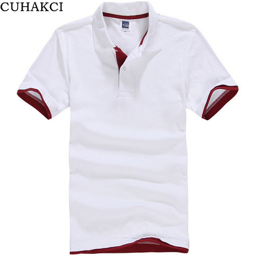 Men's Polo Shirt Men Polos Patchwork Color Unisex Wear Short Sleeves Clothes Sportswear Male Shirts B012