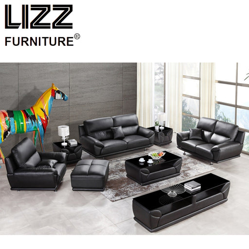 Corner Sofas Living Room Furniture Sets Miami Modern Leather Sectional Sofa Group Side Table+Coffee Table+TV Cabinet+Ottoman