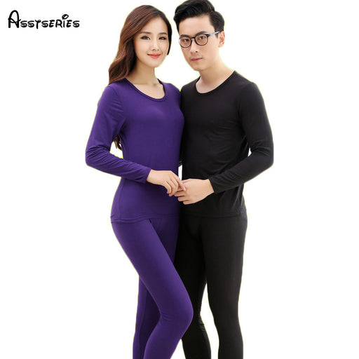 Free shipping  Long Johns Thermal Underwear Men Women Sleepwear Winter Pajamas  Thickening Couples Shapewear 15hfx