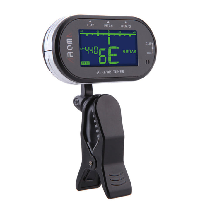AROMA AT-370B Guitar Tuner Use For Chromatic Guitar Bass Violin Clip-On And Mic Electronic Tuning Guitar Accessories