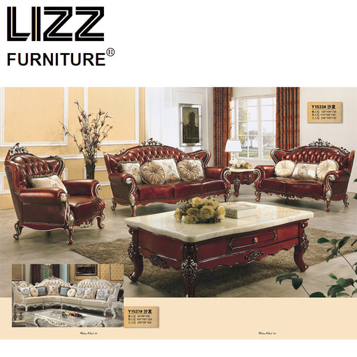 Chesterfield Sofa Royal Furniture Set Living Room Antique Style Sofa Loveseat Armchair Furniture Home Luxury Sofa Set Chair
