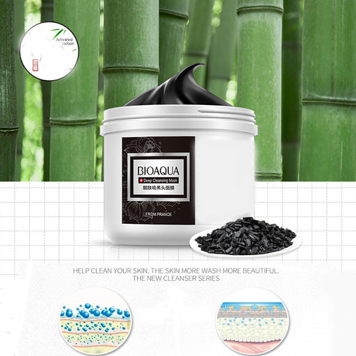 Bamboo Remover Black Mud Deep Cleansing Purifying Peel Wash The Mask