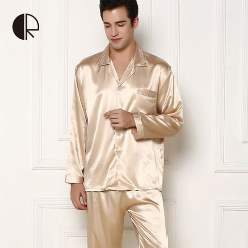 CR New Arrival Men's Summer Silk Casual Pajama Sets Couple Sleepwear Free Shipping AP257