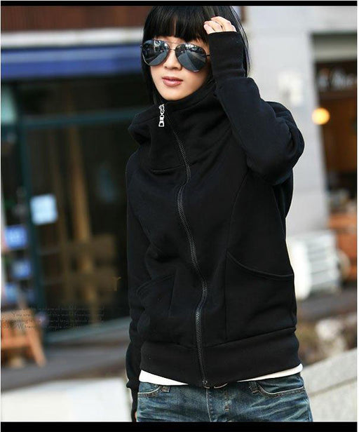 2018 Fashion Women Hoody Warm Winter Coat Long Sleeve Outwear Hoodie Top Jacket Zipper Sweatshirt Plus Size Free Shipping u2