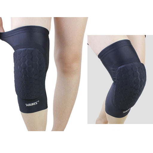1PC Sports Kneepad Honeycomb Padded Anti-slip Basketball Leg Knee Protector Gear Sleeve for Football Tennis Running Exercising