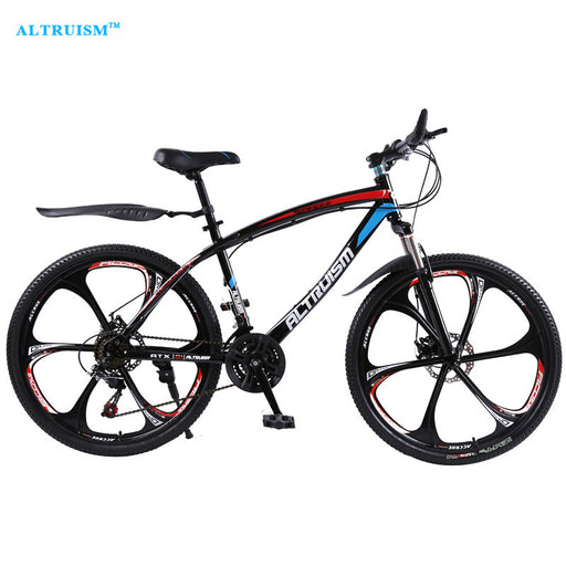 ALTRUISM Q1 24 Speed 26 inch Steel Road Bike Double Disc Brake One Wheel Bicycles Mountain Bike Bicicleta Cycling MTB Bisiklet