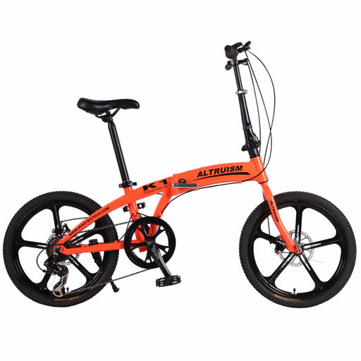 Altruism K1 20 Inch Mountain Bike Aluminum Alloy Road Folding 7 Speed Bisiklet Gears Lightweight City Bicycle Cycling Bicicleta