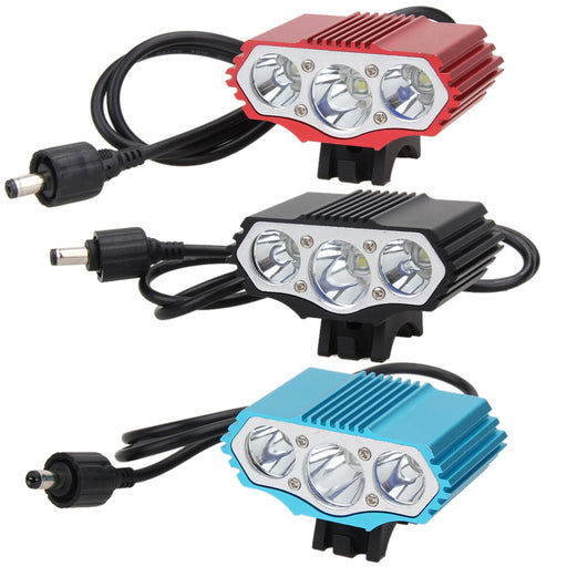 12000LM Waterproof Cycling Bike Front Lamp 3X XM-L T6 LED 4 Modes Aluminum Alloy Bicycle Headlight Flashlight Black/Blue/Red