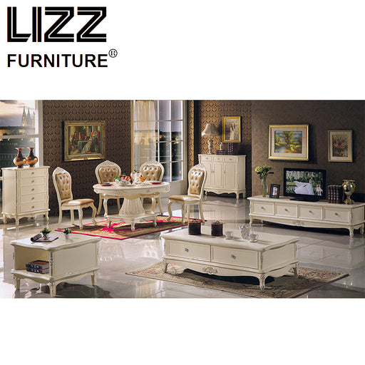 Chesterfield Dining Chair Marble Dining Table Coffee Table Living Room Furniture Royal Furniture Antique Style TV Cabinet Stand