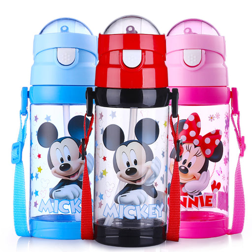500ML Children's Plastic Tritan Drinking Cup Baby Feeding Cup with Straw Portable Durable Kettle Suction Water Bottle BPA Free