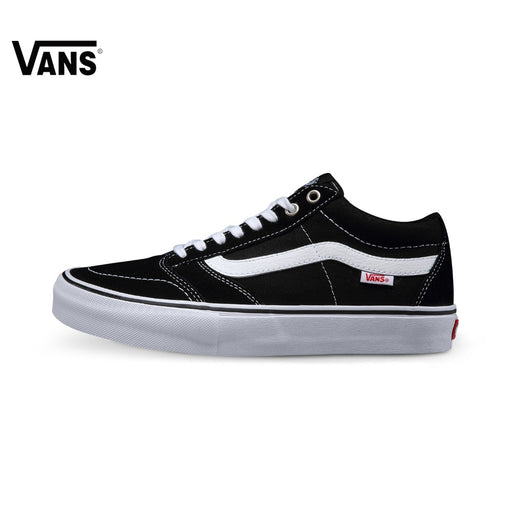 Intersport Original Vans Black Color Low-Top Men's Skateboarding Shoes Sport Shoes Sneakers Classique Comfortable Breathable