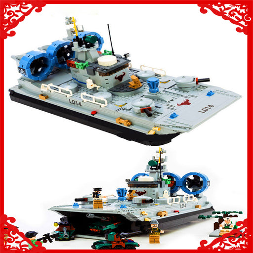 GUDI 8027 Building Block Compatible Legoe Military Marine Cops Hovercraft 928Pcs  DIY Figure  Toy Gifts For Children