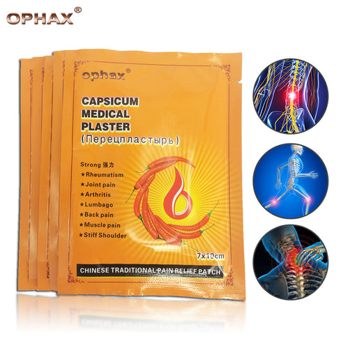OPHAX 50Pcs/10Bags Chinese Pain Relief Plasters medical Muscle aches pain relief patch sticker muscular fatigue balm Health Care