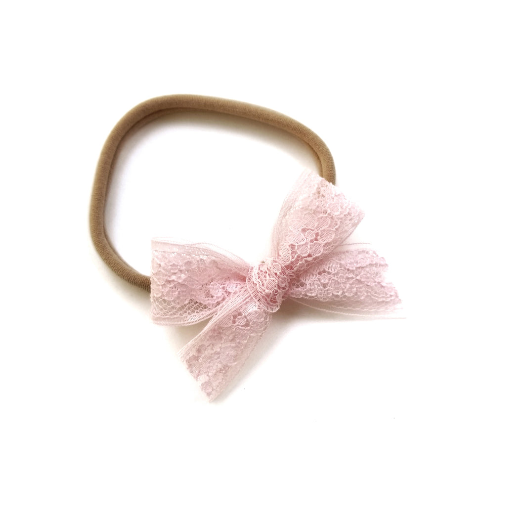 Baby Pink : Lace Bow