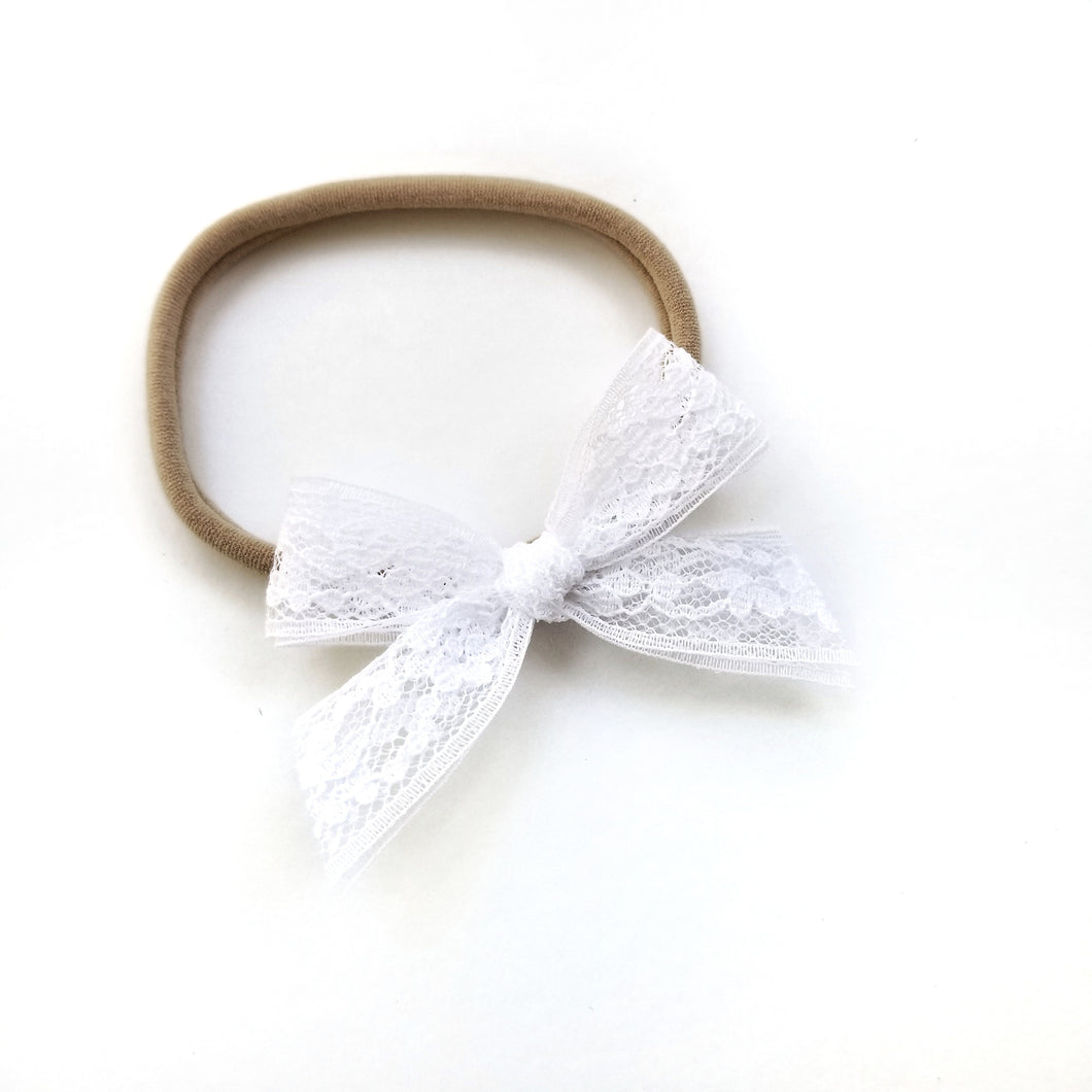 White Pearl : Lace Bow