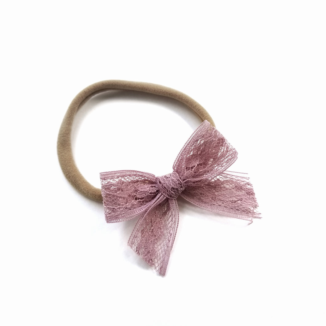 French Rose : Lace Bow