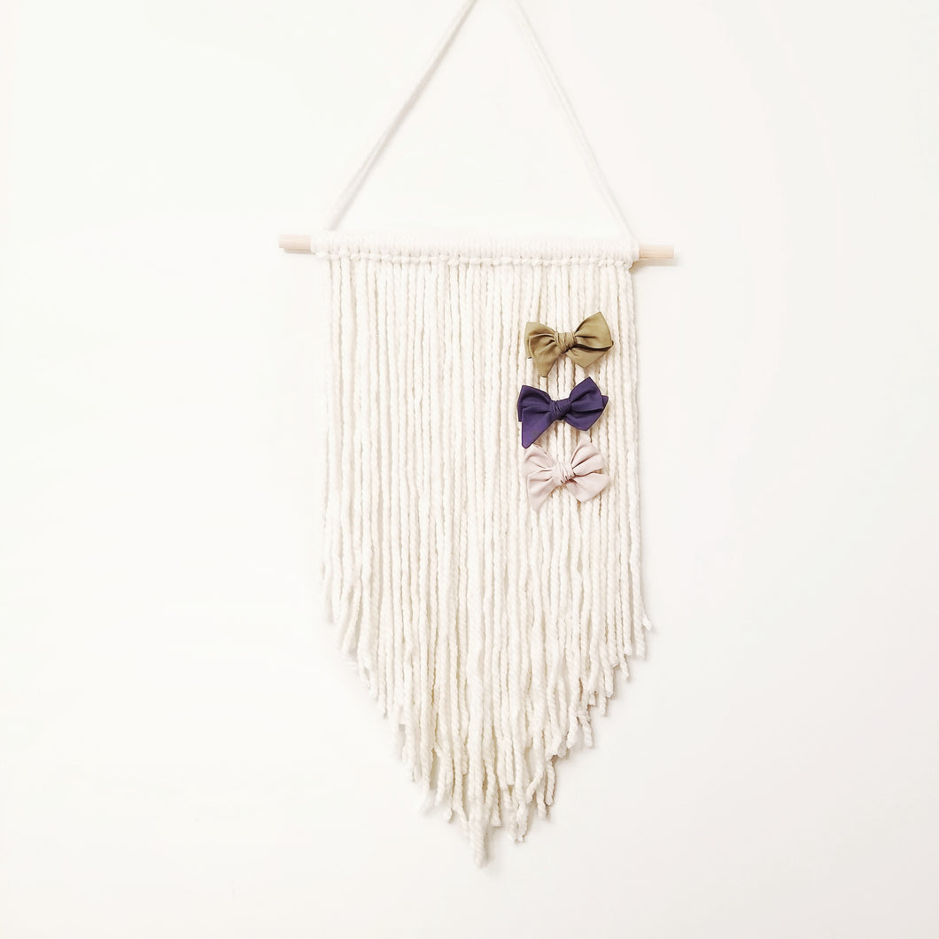 Hanging Boho Bow Holder