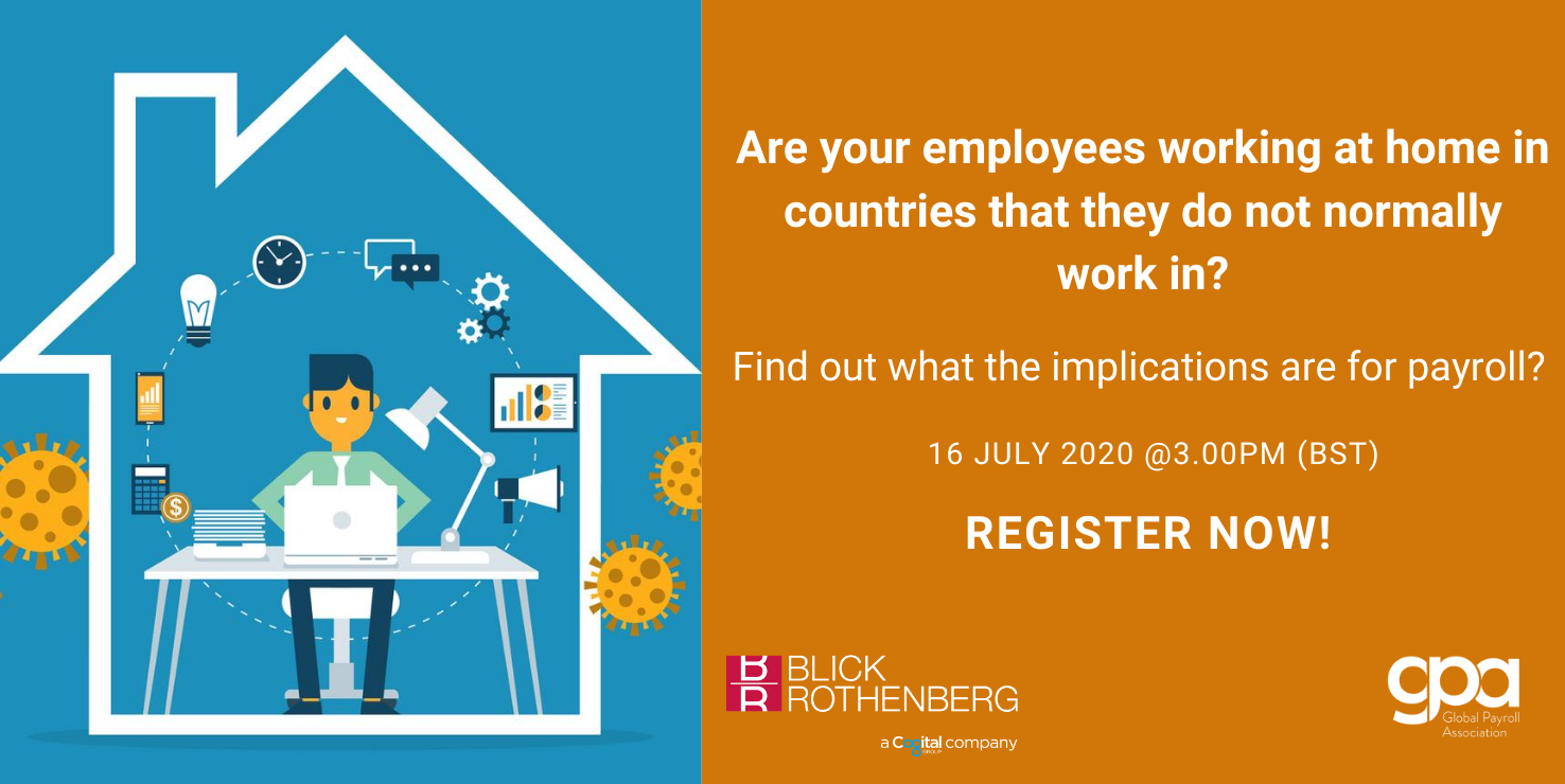 What are the implications of your employees working at home in countries that they do not normally work in?