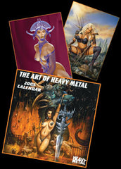 <!--- 2005 --->Calendar 2005 - Art of Heavy Metal (also good for 2011 dates)