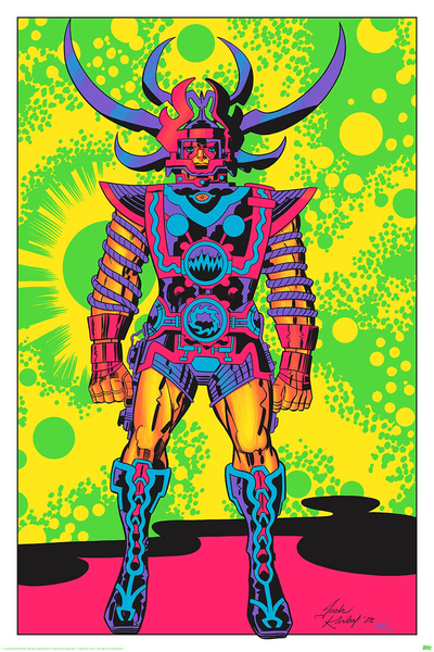SIGNED Jack Kirby / Barry Geller - Lord of Light Blacklight Print - Sam, The Lord of Light