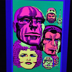 SIGNED Jack Kirby / Barry Geller - Lord of Light Blacklight Print - Brahma's Dream