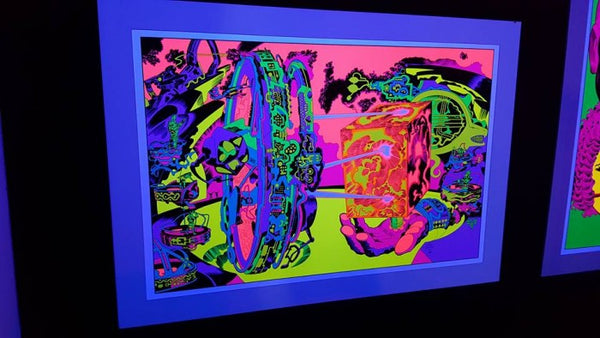 Jack Kirby / Barry Geller - Lord of Light Blacklight Print - Planetary Control Room 2 (Left)