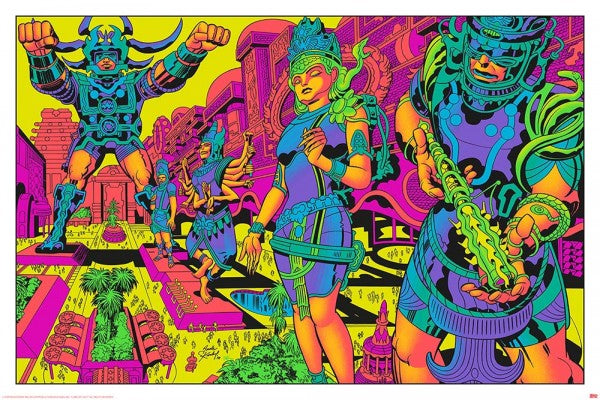 Jack Kirby / Barry Geller - Lord of Light Blacklight Print - Brahma's Pavilions of Joy