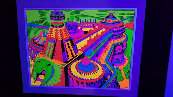 Jack Kirby / Barry Geller - Lord of Light Blacklight Print - North East Corner of Heaven