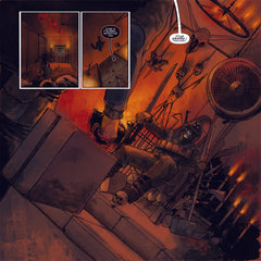 "Megadeth: Death By Design Graphic Novel w/ 4 coke bottle colored clear vinyl ""Warheads On Foreheads"" album set"