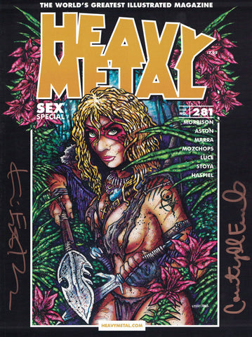 Issue #281 - Kevin Eastman Cover (Signed by Kevin Eastman and Courtney Eastman)