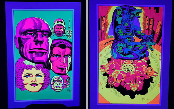 Jack Kirby / Barry Geller - Lord of Light Blacklight Print - Brahma's Dream